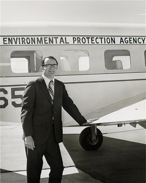 air pollution control activities in the Four Corners area of the U.S., in the 1970s -- soon after the agency completed its hearings and rule making on the pesticide DDT.  EPA photo.
