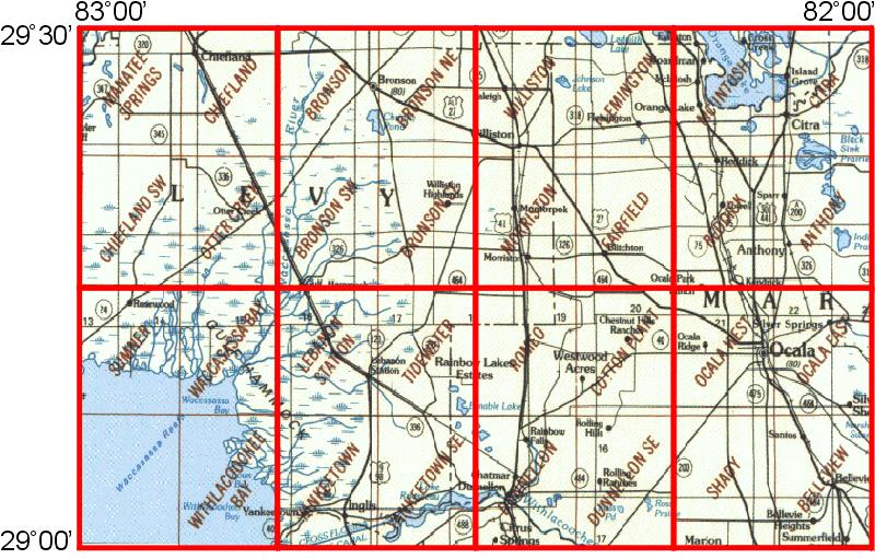 WhAEM BBM Files Ocala Florida EPA Center For Exposure - Ocala florida map