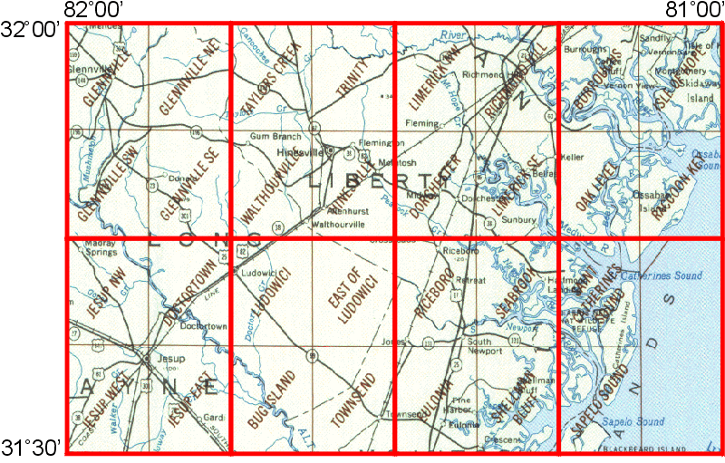 Map Of Jesup Georgia.Whaem2000 Bbm Files Jesup Georgia Environmental Modeling