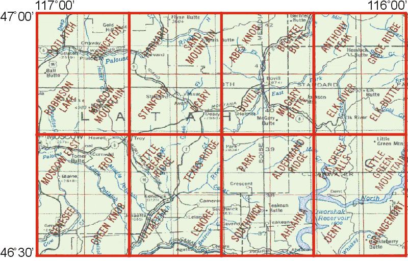 Potlatch Idaho Map.Whaem2000 Bbm Files Potlatch Idaho Environmental Modeling