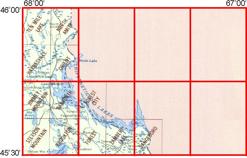 Danforth Maine Map.Whaem2000 Bbm Files Danforth Maine Environmental Modeling