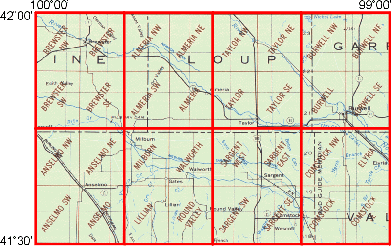 Burwell Nebraska Map.Whaem2000 Bbm Files Burwell Nebraska Environmental Modeling