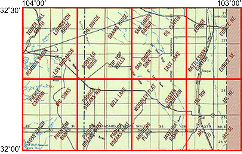 Jal New Mexico Map.Whaem2000 Bbm Files Jal New Mexico Environmental Modeling