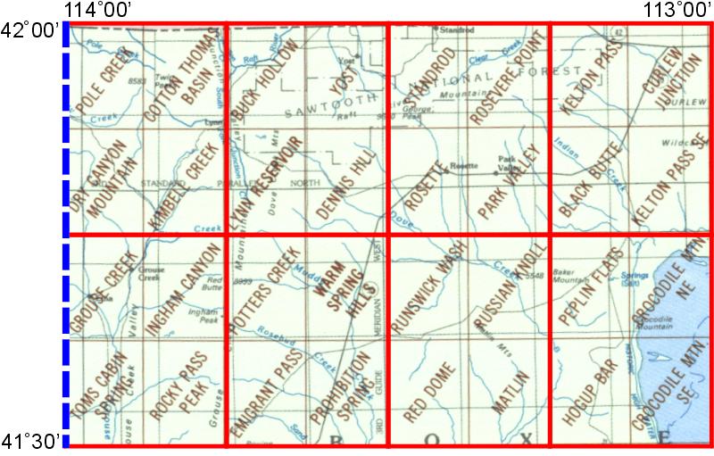 Grouse Creek Utah Map.Whaem2000 Bbm Files Grouse Creek Utah Environmental Modeling