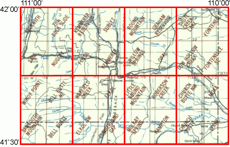 Kemmerer Wyoming Map.Whaem2000 Bbm Files Kemmerer Wyoming Environmental Modeling