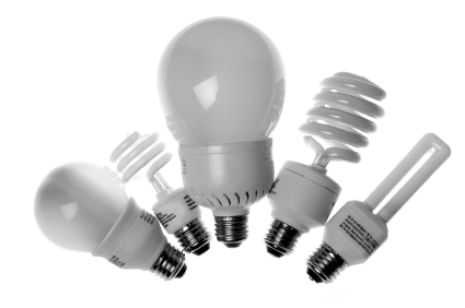 Photo of different types of CFLs