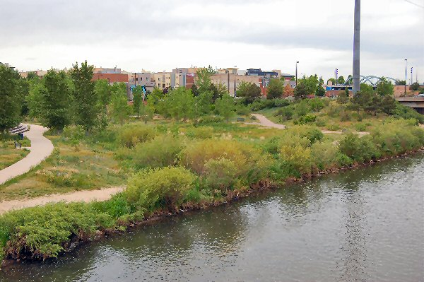 South Platte River near downtown Denver
