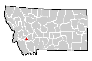 Montana Pole and Treating Plant site location map
