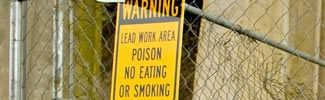 Lead warning sign