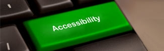 A key on a keyboard labeled accessibility