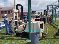 ETSC remediating contaminants using Situ Chemical Oxidation technology from hazardous waste site
