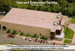 Aerial photo of EPA's Test and Evaluation facility in Cincinnati, Ohio.