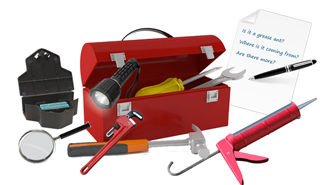 Opened toolbox with tools