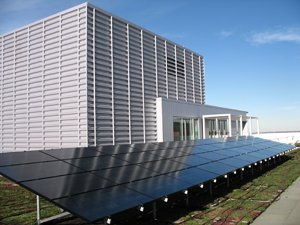 Photo showing solar panels on a roof