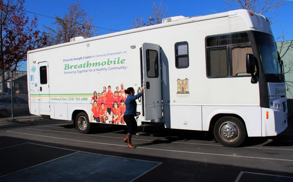 Photo of the Breathmobile, a mobile asthma clinic.