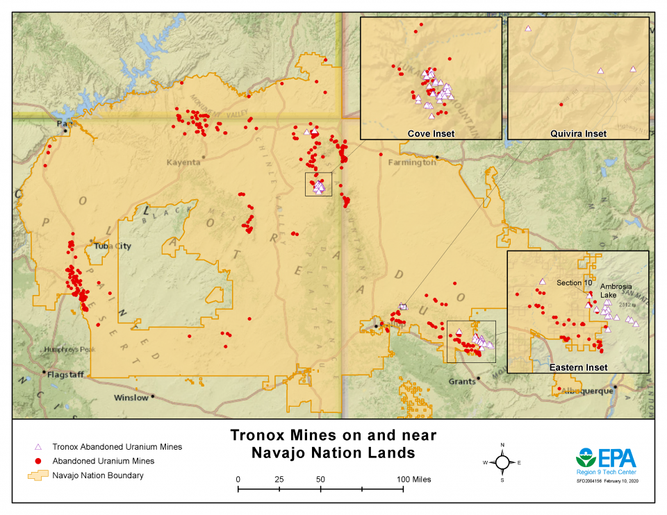 Tronox Mines on and Near Navajo Nation Lands