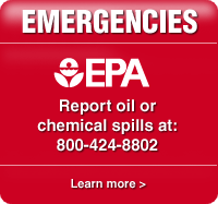 Report oil or chemical spills at: 800-424-8802.