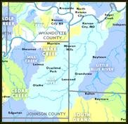 Map of Blue River Watershed