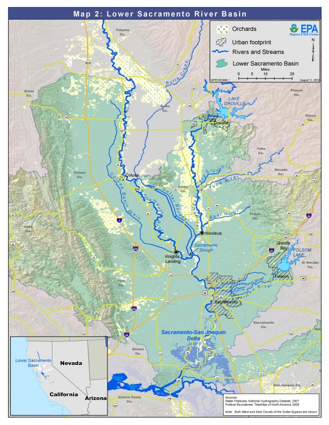 Map 2: Lower Sacramento River Basin