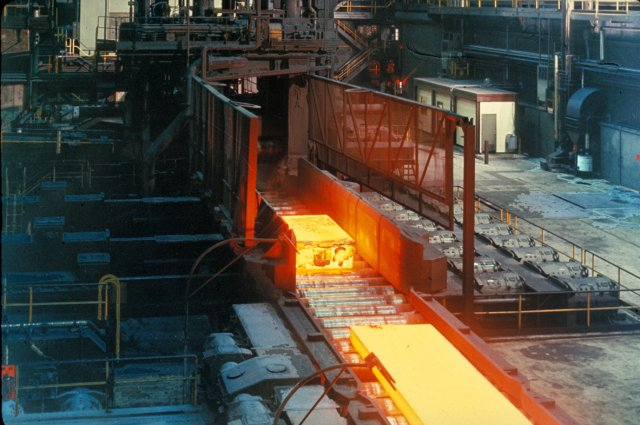 Photo of a steel mill
