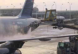 Deicing of aircraft at O'Hare Airport