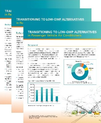 Fact Sheets on Transitioning to Low-GWP Alternatives in Various Applications