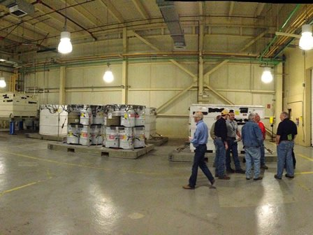 EPA WIPP team and DOE touring the WIPP facility.