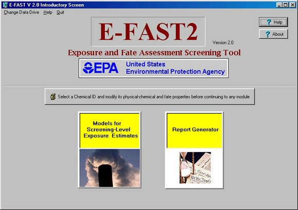 Screen Shot of Initial Page of E-FAST V2.0 Screen Shot of Initial Page of E-FAST