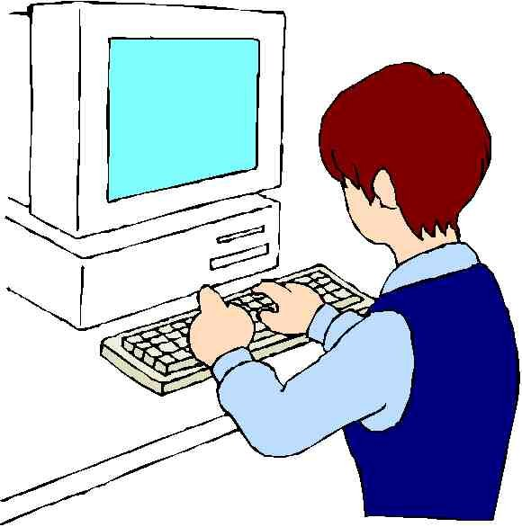 Image of worker at computer