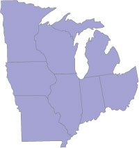 ICLUS Data for the Midwest Region V1  Integrated Climate and