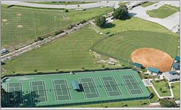 Aerial view of Former Spellman Engineering Superfund site in Orlando, Florida
