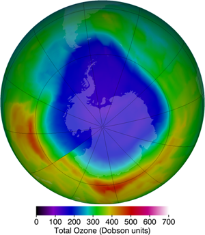 Image map of ozone hole reduction in 2012