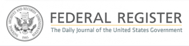 Federal Register Notice Logo