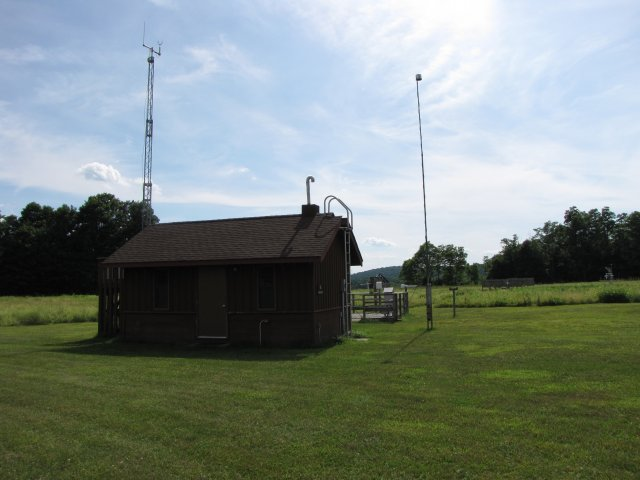 A picture of the Cary Institute of Ecosystems Studies Monitoring Station.
