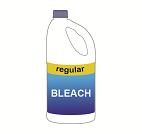 A bottle of bleach
