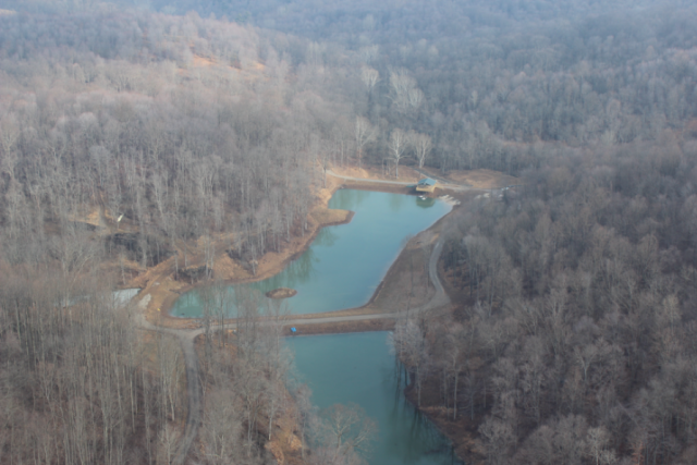 Aerial photo of impoundment constructed in 2009