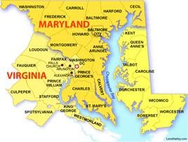 Maryland Dc Virginia Map | woestenhoeve