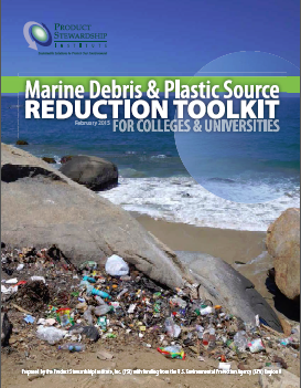 Cover of the Marine Debris & Plastic Source Reduction Toolkit for Colleges & Universities