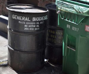 Picture of waste cooking oil drum container