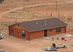 Rebuilt home on Navajo Nation