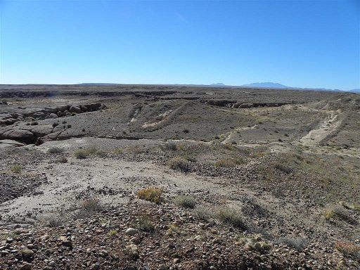 abandoned  mine in open desert land