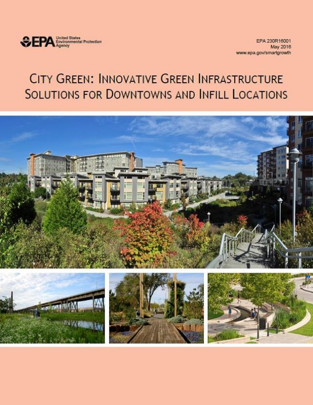 Cover of City Green: Innovative Green Infrastructure Solutions for Downtowns and Infill Locations