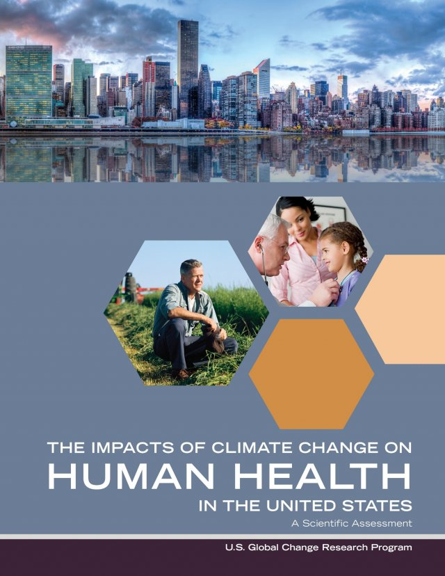 The Impacts of Climate Change on Human Health report cover