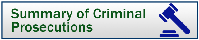 Icon for Summary of Criminal Prosecutions Database