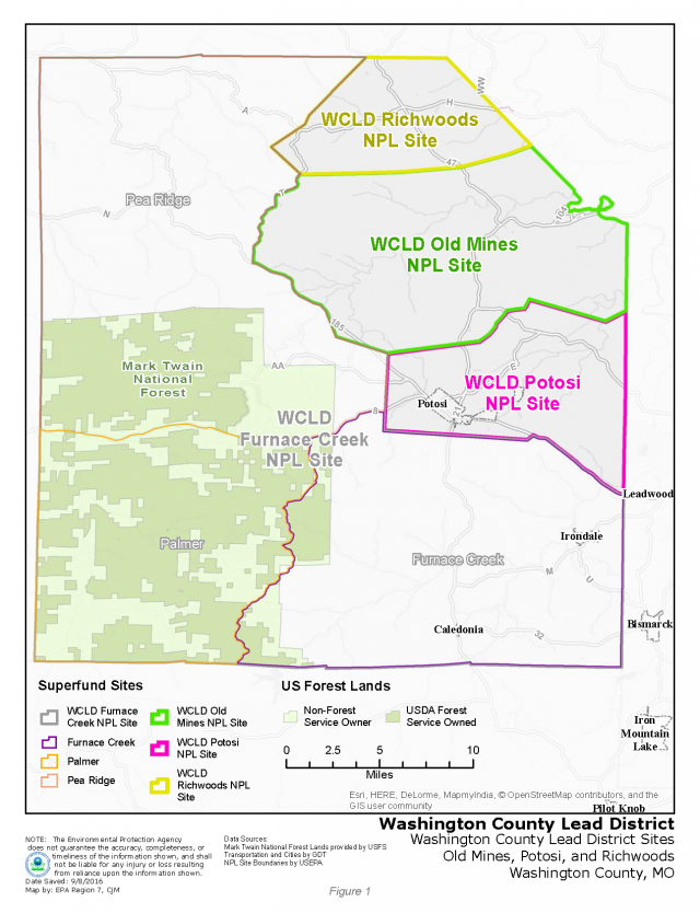 Washington County Superfund Site site map 2