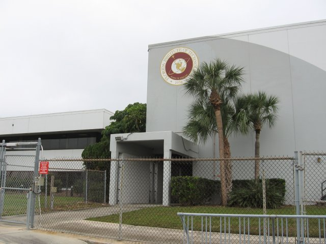 A Florida Institute of Technology building on the Harris Corp (Palm Bay Plant) Superfund site