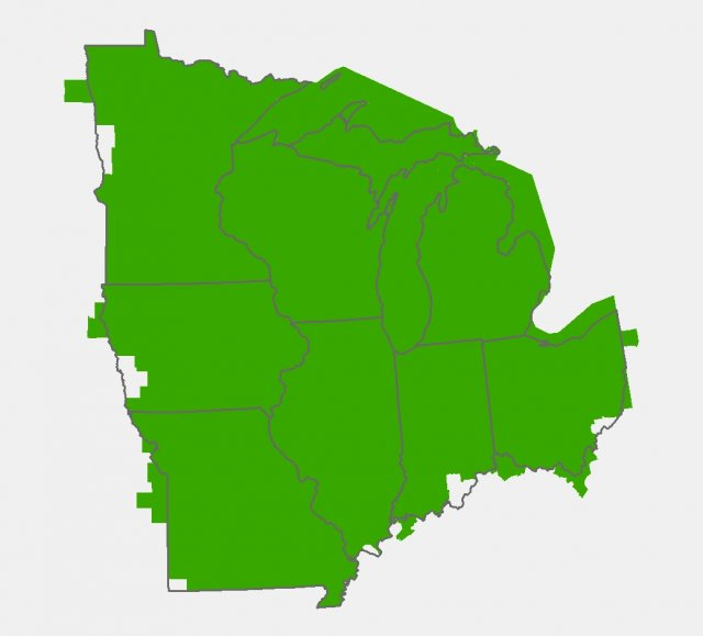 ICLUS Data for the Midwest Region  Integrated Climate and Land