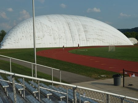 golf dome and track at the site
