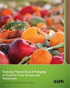 this is a screenshot of the cover page for the Reducing Wasted Food and Packaging Toolkit