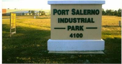 Sign at the entrance for Port Salerno Industrial Park